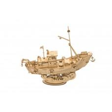3D деревянный конструктор Robotime Рыболовецкое судно