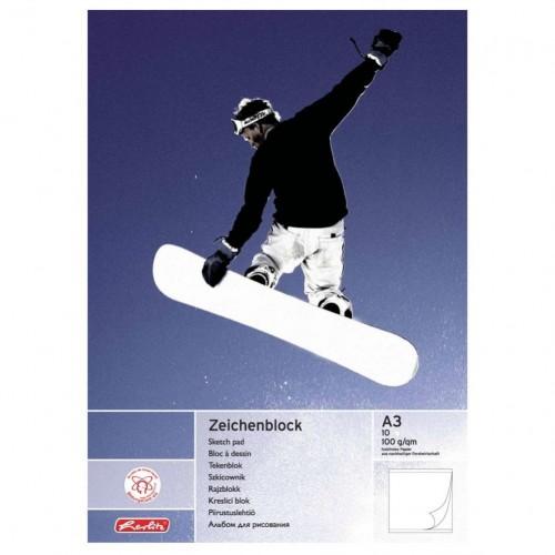 Альбом для рисования Herlitz - Зимний спорт, А3, 10 листов