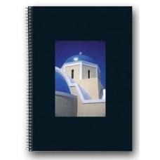 Блокнот Herlitz Black Box спираль 70 листов клетка, мечеть