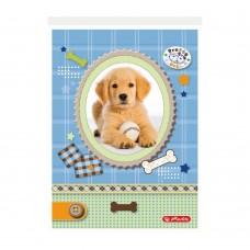Блокнот Herlitz Pretty Pets склейка/верх А6 46 листов клетка, щенок