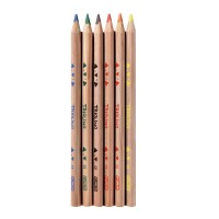 Карандаши цветные трехгранные Herlitz 6 штук толстые