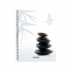 Блокнот Herlitz Emotion Spa спираль А5 80 листов клетка, камни