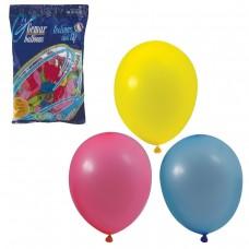 """Шары воздушные Веселая затея 10"""" (25 см), комплект 100 штук, 12 пастельных цветов"""