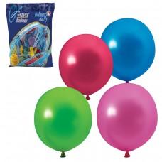 """Шары воздушные Веселая затея 12"""" (30 см), комплект 100 штук, 12 цветов металлик"""