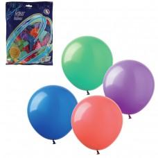 """Шары воздушные Веселая затея 12"""" (30 см), комплект 100 штук, 12 пастельных цветов"""