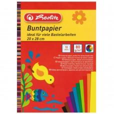 Бумага Herlitz поделочная в блокноте 10 листов цветная