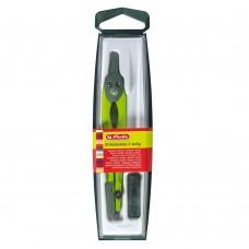 Циркуль Herlitz с запасными грифелями, зеленый
