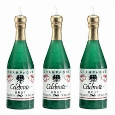 Свечи для торта декоративные Herlitz - Шампанское, 3 штуки