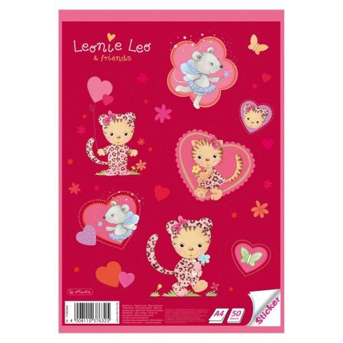 Альбом для рисования Herlitz Leonie Leo & friends А4 50 листов, красный