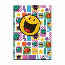 Записная книжка Herlitz SmileyWorld А5 96 листов клетка, разноцветная