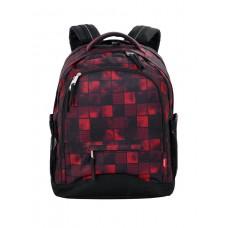 Рюкзак 4YOU Compact Квадраты красные-черные