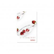Книжка Herlitz записная Fresh Fruit А6 96 листов клетка, клубника
