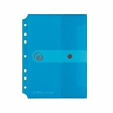 Папка-конверт с кнопкой Herlitz Easy orga с перфорацией А5 голубая