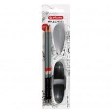 Набор Herlitz my.pen, черный-серый