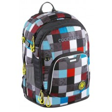Рюкзак Coocazoo Ray Day 24L Checkmate Blue Red серый/бирюзовый (139270)