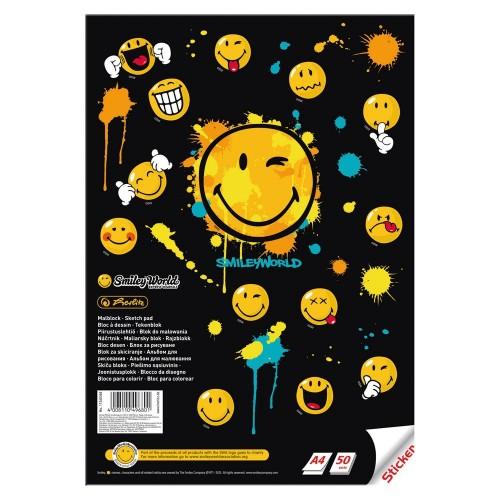 Альбом для рисования Herlitz SmileyWorld Edition А4 50 листов