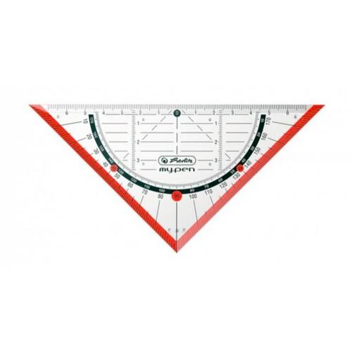 Треугольник Herlitz my.pen 16см, красный