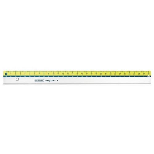 Линейка Herlitz my.pen длина 30 см, желтая