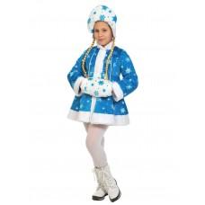 Карнавальный костюм Карнавалофф - Новый год. Снегурочка бирюза, плюш, размер 128-134см