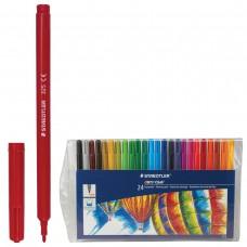 Фломастеры Staedtler Noris Club, 24 цвета, смываемые