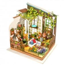 3D деревянный пазл Robotime Миниатюрный дом Цветочный домик Миллера
