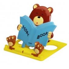 Подставка Herlitz для книг Медведь, синяя