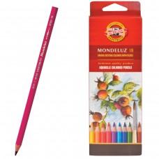 Карандаши цветные акварельные художественные Koh-I-Noor Mondeluz, 18 цветов, 3,8 мм, заточенные