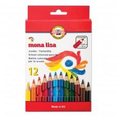 Карандаши цветные утолщенные Koh-I-Noor Mona Lisa, 12 цветов, 5,6 мм