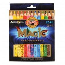 Карандаши с многоцветным грифелем Koh-I-Noor Magic, 13 штук, трехгранные