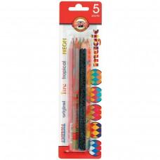 Карандаши с многоцветным грифелем Koh-I-Noor Magic, 5 штук, 5,6 мм