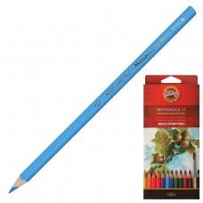 Карандаши цветные акварельные художественные Koh-I-Noor Mondeluz, 24 цвета, 3,8 мм, заточенные
