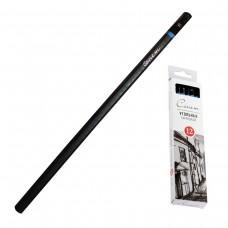 Уголь натуральный для рисования Невская палитра - Сонет, набор 12 штук, мягкий