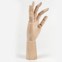 Манекен художественный Brauberg Art Classic Рука, высота 30 см, мужская левая, дерево
