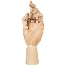 Манекен художественный Brauberg Art Classic Рука, высота 25 см, женская левая, дерево