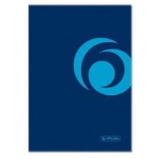 Книжка Herlitz записная А5 96 листов клетка, синяя