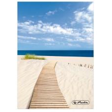 Книжка Herlitz записная А6 96 листов клетка, песчаный пляж