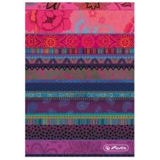 Книжка Herlitz записная А6 96 листов клетка, разноцвет