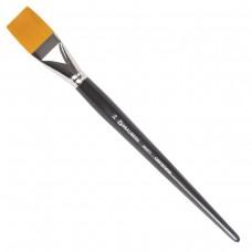 Кисть художественная профессиональная Brauberg Art Classic, синтетика жесткая, плоская, № 36, длинная ручка