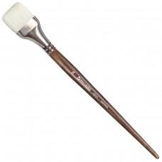 Кисть художественная профессиональная Brauberg Art Classic, щетина, плоская, № 36, длинная ручка