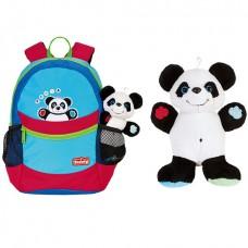 Рюкзак детский Scouty с мягкой игрушкой Мишка панда