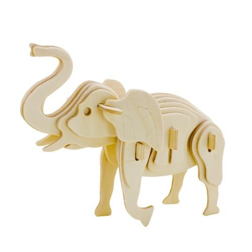 3D деревянный пазл Robotime Дикие животные - Слон