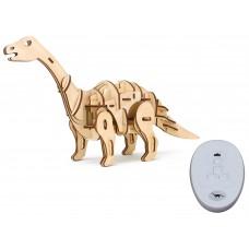 3D Деревянный пазл Robotime на управлении - Апатозавр