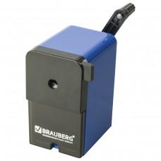 Точилка механическая Brauberg RoboBlue, металлический механизм, чёрный/синий