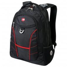 Рюкзак Wenger - Rad  универсальный, черный, красные полосы, 30 литров