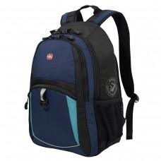 Рюкзак Wenger сине-черный, бирюзовые вставки, 22 литра