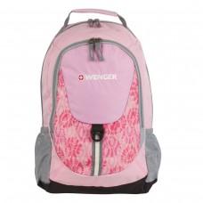 Рюкзак Wenger розовый, серые вставки, 20 литров