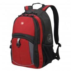 Рюкзак Wenger красно-черный, серые вставки, 22 литра