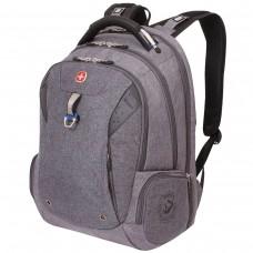 Рюкзак Wenger серый, черные вставки, функция ScanSmart, 31 литр