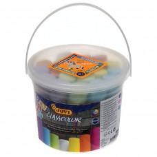 Мел цветной Jovi круглый, 20 штук, для рисования на асфальте