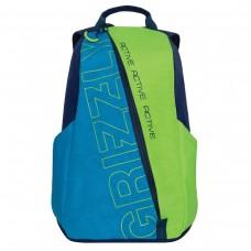 Рюкзак Grizzly Актив универсальный, синий\салатовый